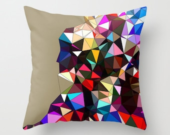 Outdoor Throw Pillow Cover - Geometric Pillow Cover -  Decorative Throw Pillow Cover - Art Pillow Cover - Greige Pillow Cover -Modern Pillow