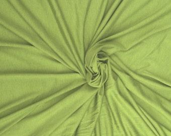 Pistachio Modal Spandex Fabric Jersey Knit by the Yard 4 Way Stretch 10-12