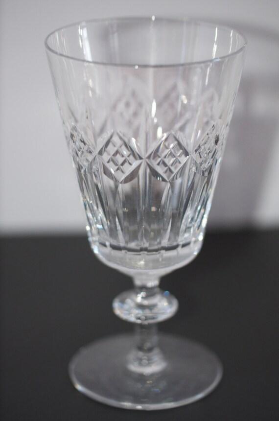 cut crystal long stem water goblets wine glasses. Black Bedroom Furniture Sets. Home Design Ideas