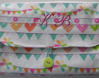All in 1 Changing Pad Diaper Clutch, baby changing pad, folding changing pad, diaper changing pad, monogrammed changing pad, appliqued pad