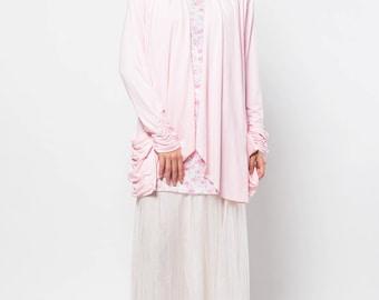 Sof Pink Sakura Sevira Ginza Breastfeeding Dress