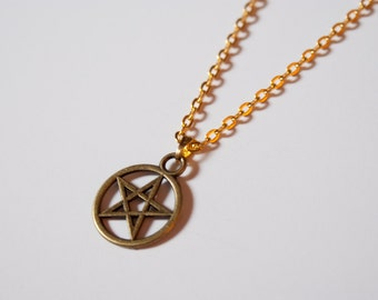 Bronze Star Pentagram Necklace