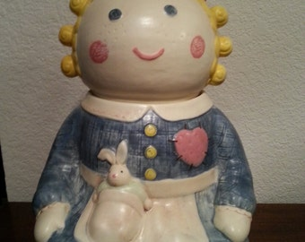 Little Girl Ceramic Cookie Jar