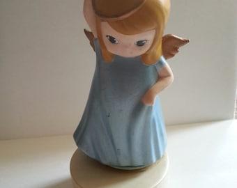 Vintage Musical Figurine - Ceramic Angel