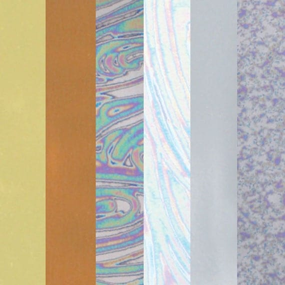 Mylar backed crafting foils by Lisa Pavelka, Expressions Collection for use on polymer clay, wood, glass and more
