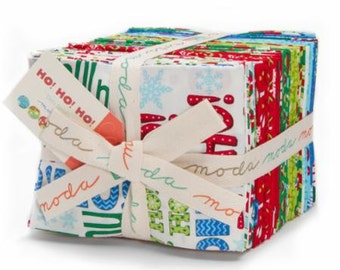 Ho! Ho! Ho! Fat Quarter Bundle by Deb Strain for Moda