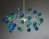 Ceiling Light fixture with sea color bubbles for Children's Room or bedroom.