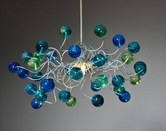 Ceiling Light fixture with sea color bubbles for Children's Room, toilet  or bedroom.