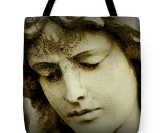 Angel Face,Tote Bag,Angel Tote,Guardian Angel,Female Angel,Beach Bag,Carryall Bag,Shoulder Bag,Catholic Tote,Christian Tote