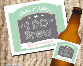 """Wedding Beer Labels, Custom Beer Labels, """"I Do"""" Brew, Wedding Favors, Wedding Labels, Homemade Beer Labels, Beer Wedding Favors"""