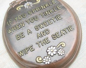 Vintage Bathroom Sign, If You SPRINKLE When You TINKLE, toilet lid humour, Funny Bathroom Sign, bathroom wall decor, Gift For Him, Man Cave