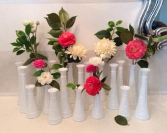 White Wedding Vases. White Wedding White Candelabra, Cottage Home Decor