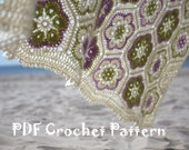Crocheted Afghan African Flower - Blanket - Throw - DIY - PDF Crochet Pattern - in English Language