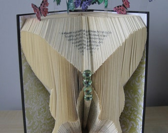 Hand Folded and Decorated 'Butterfly' Bookfold Keepsake **Free P&P**