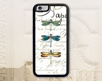 Dragonfly phone case, iPhone 4 4S 5 5s 5C 6 6+ Plus, Samsung Galaxy s3 s4 s5 s6, Vintage style Shabby chic Dragonflies phone cover V1132
