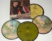America Coasters vinyl record coaster set