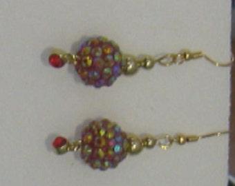 Red Dazzle Earrings