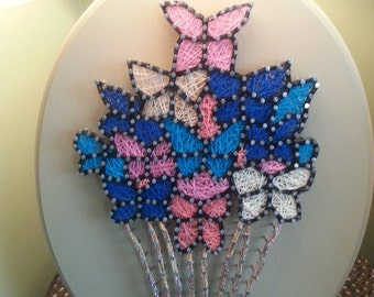 "11x14"" Hot Air Balloon of Butterflies String Art"
