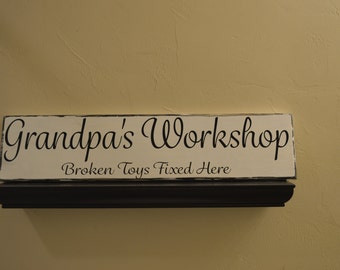 Father's Day Special! Grandpa's Workshop - Broken Toys Fixed Here, Papa's Workshop, Workshop Sign