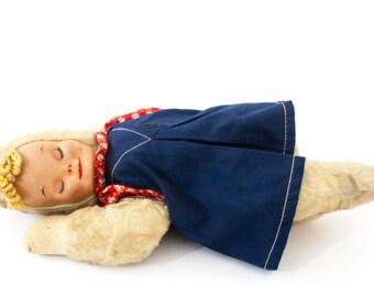 Vintage Bantam Sleeping Doll- Gund Like Plush Doll