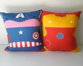 Ironman and Captain America Avengers pillowcase cushion cover Cotton 40x40 cm 16x16 inches