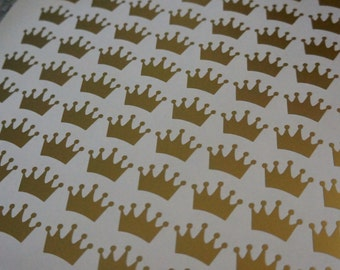 Crown/Tiara Vinyl Stickers