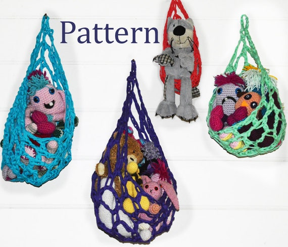 Free Crochet Pattern Hanging Cocoon : Crochet Pattern Hanging Basket Cocoon Toy Storage Solution
