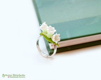 Ring Lily of the valley - Polymer Clay Flowers