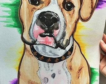 CUSTOM Water Color Pet Painting
