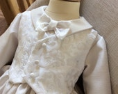 Christening Baptism Boys baby Gown Robe Dress with matching hat Handmade
