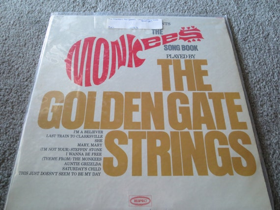David Jones Personal Collection Record Album - The Monkees Songbook - Played By The Golden Gate Strings