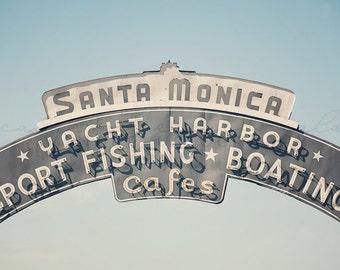 Santa Monica Photography, Los Angeles Photograph, California Beach Print, Pastel Home Decor, Bohemian Decor, Large Wall Art, Poster Size