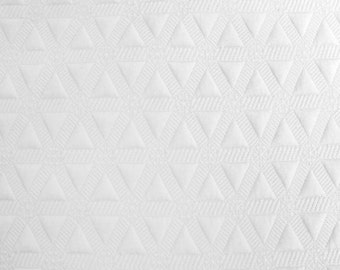 Off White Jacquard Knit Stretch Fabric - Style 470