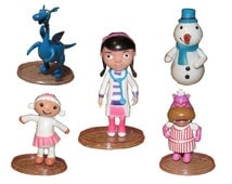 Doc McStuffins CAKE TOPPER Lambie Hallie Stuffy Chilly 5 Figure Set Birthday Party Cupcakes Figurines Disney * FAST Shipping *