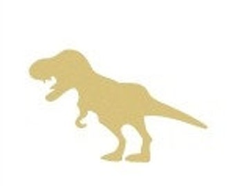 DINOSAUR T-REX Unfinished Wooden Craft Shape, Do-It-Yourself