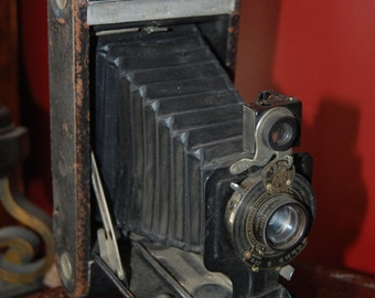 No 1-A Kodak Jr accordion camera autographic vintage antique folding