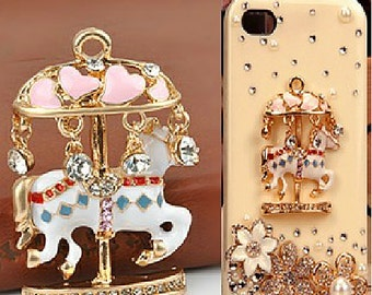 1 Piece Carousel Rhinstones Alloy Rhinestone Bling Bling Decoden Piece for your craft projects