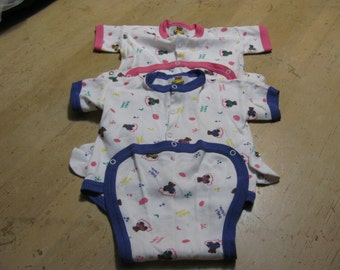 Baby undershirts; Vintage TEDDY - Made in Canada; up to 26 pounds; set of two
