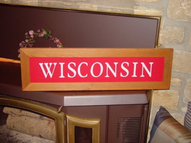 Large Personalized Man Cave Signs : Free shipping wisconsin large man cave sign custom