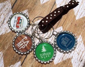 Camping Wine Charms (Set of 4)