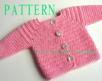 Baby Girl Sweater Crochet PATTERN, Baby Sweater PATTERN, Crochet Sweater