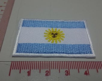 Argentina Flag Iron on patch - Flag Applique Embroidered Iron on Patch