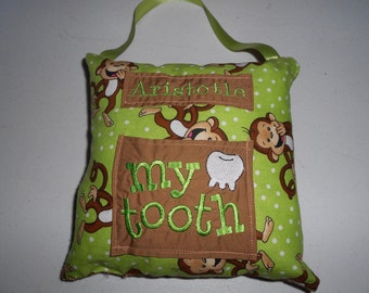 Monkey Tooth Fairy Pillow