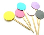 12 Confetti Picks. Cupcake Toppers. Cake Toppers. Baby Shower. Confetti Birthday. Party.