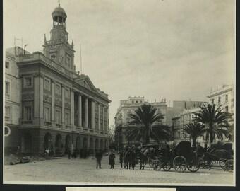 Cadiz Spain town hall antique art photo by Dawson