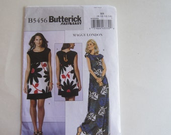 Butterick B5456 Very Easy Pullover Dress by Maggy London Size 8-10-12-14 Uncut Sewing Pattern, Butterick 5456 Dress Uncut Sewing Pattern
