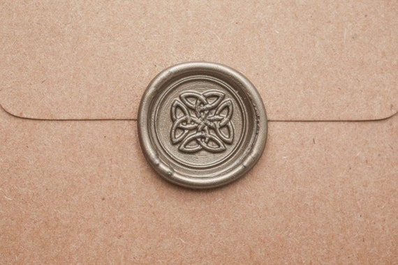 Celtic Wedding Invitation Wax Seal, Peel and Stick Envelope Sticker, Celtic Knot Decal for Medieval or Renaissance Wedding Birthday Party