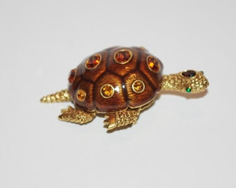 Joan Rivers Turtle Pin Brooch            - S1150