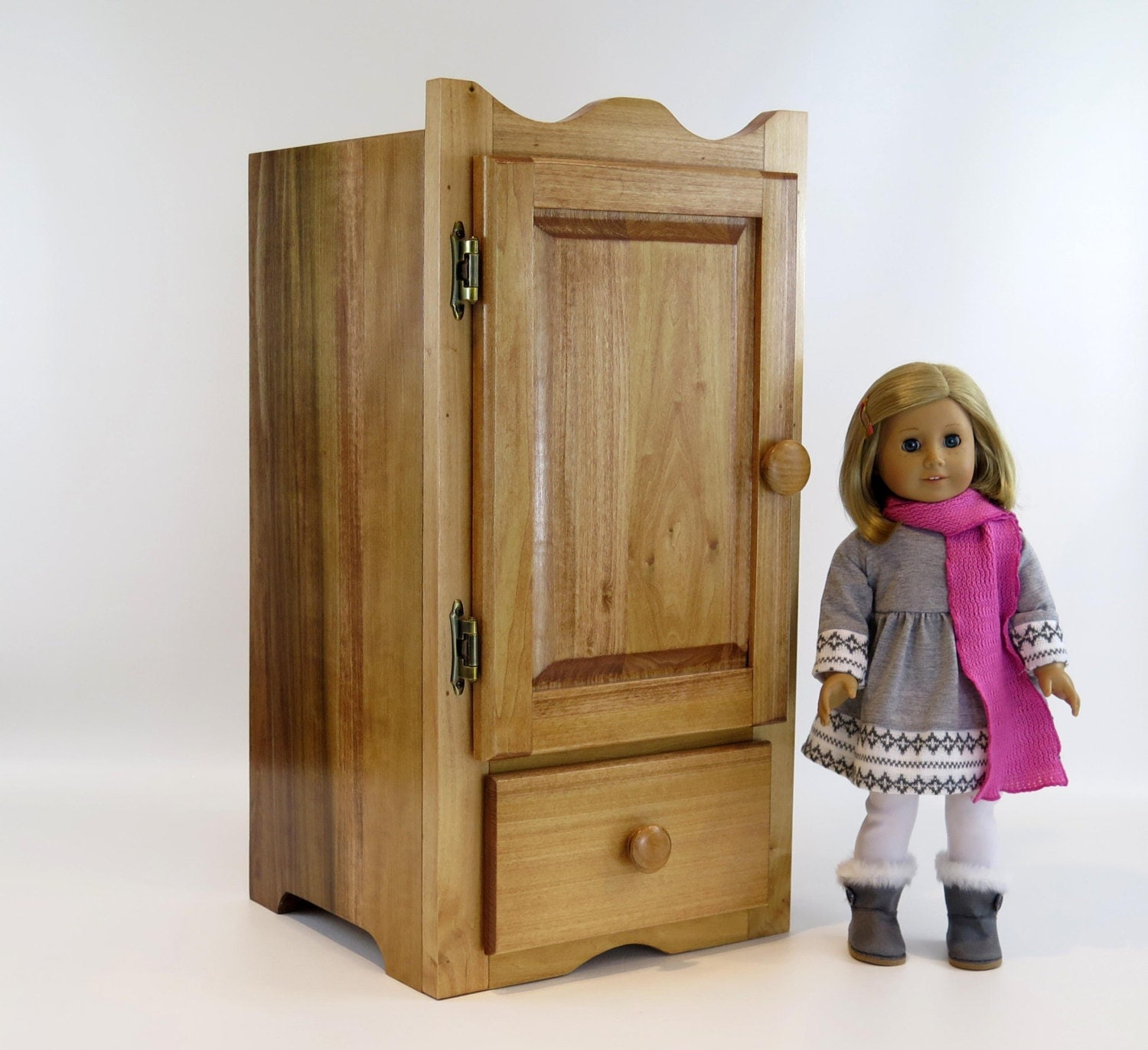 American girl doll wardrobe armoire by hardwoodfurniture