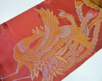 BOLT UN-USED KiMONO FABRiC Z22- Chinese Phoenix & Chrysanthemum